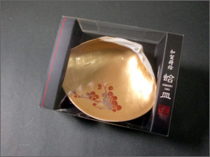 蒔絵蛤皿「金色」