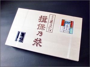 揖保乃糸赤帯上級品5250円の外箱写真